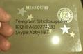 Missouri  ID hologram MO state overlay
