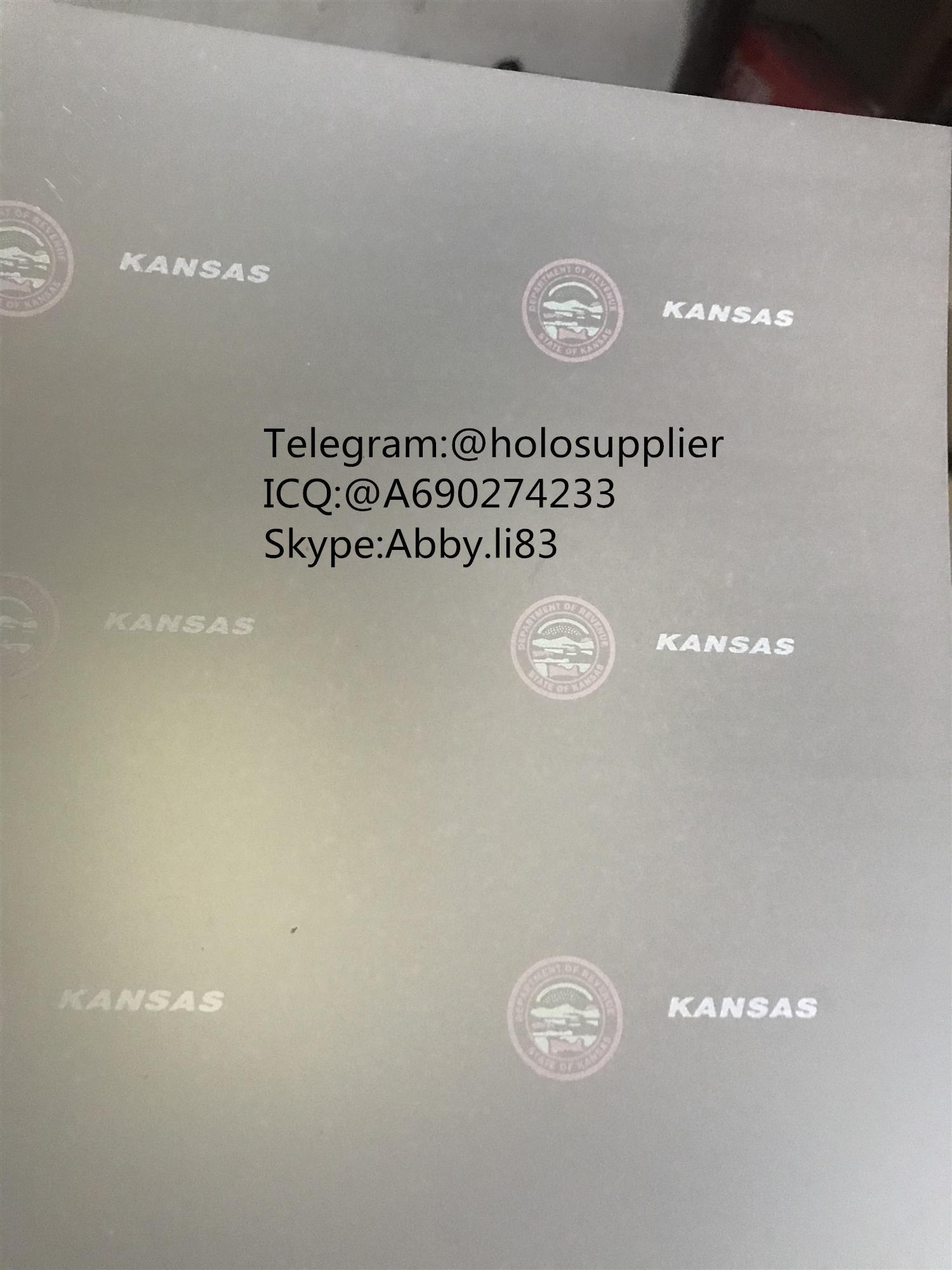 Kansas ID State hologram Ovi sheet KS ID overlay