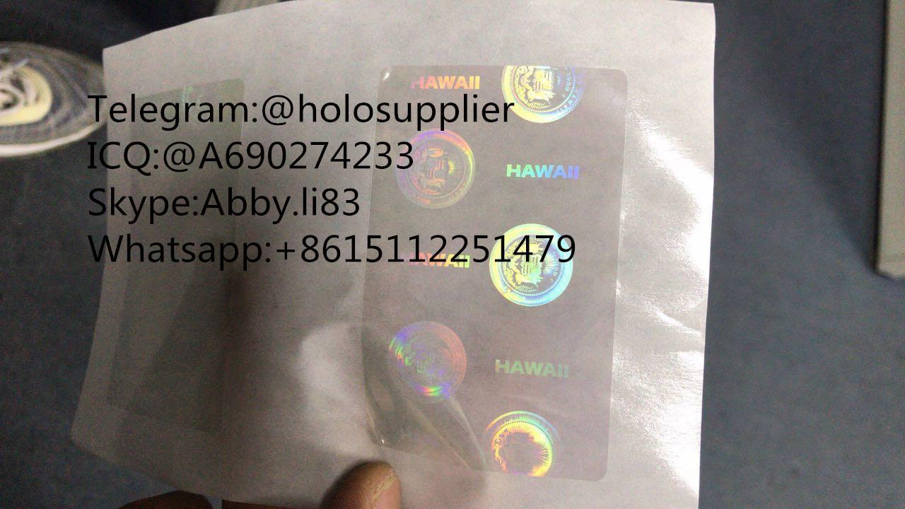 Hawaii  ID DL HI State hologram HI overlay sticker