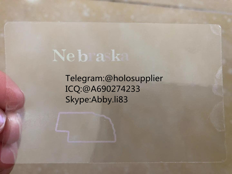 Nebraska NE ID hologram NE state overlay 3