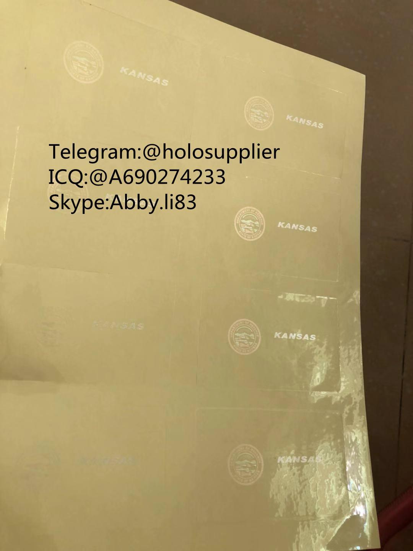 Kansas ID State hologram Ovi sheet KS ID overlay 3