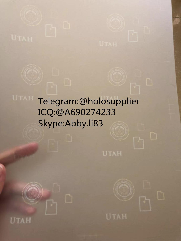 Utah ID laminate sheet overlay state ovi sheet  3