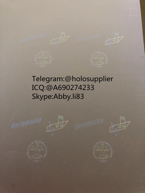 New Tennessee ID hologram laminate sheet TN ovi sheet  3