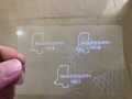 Mississippi  ID DL hologram MS overlay sticker 3