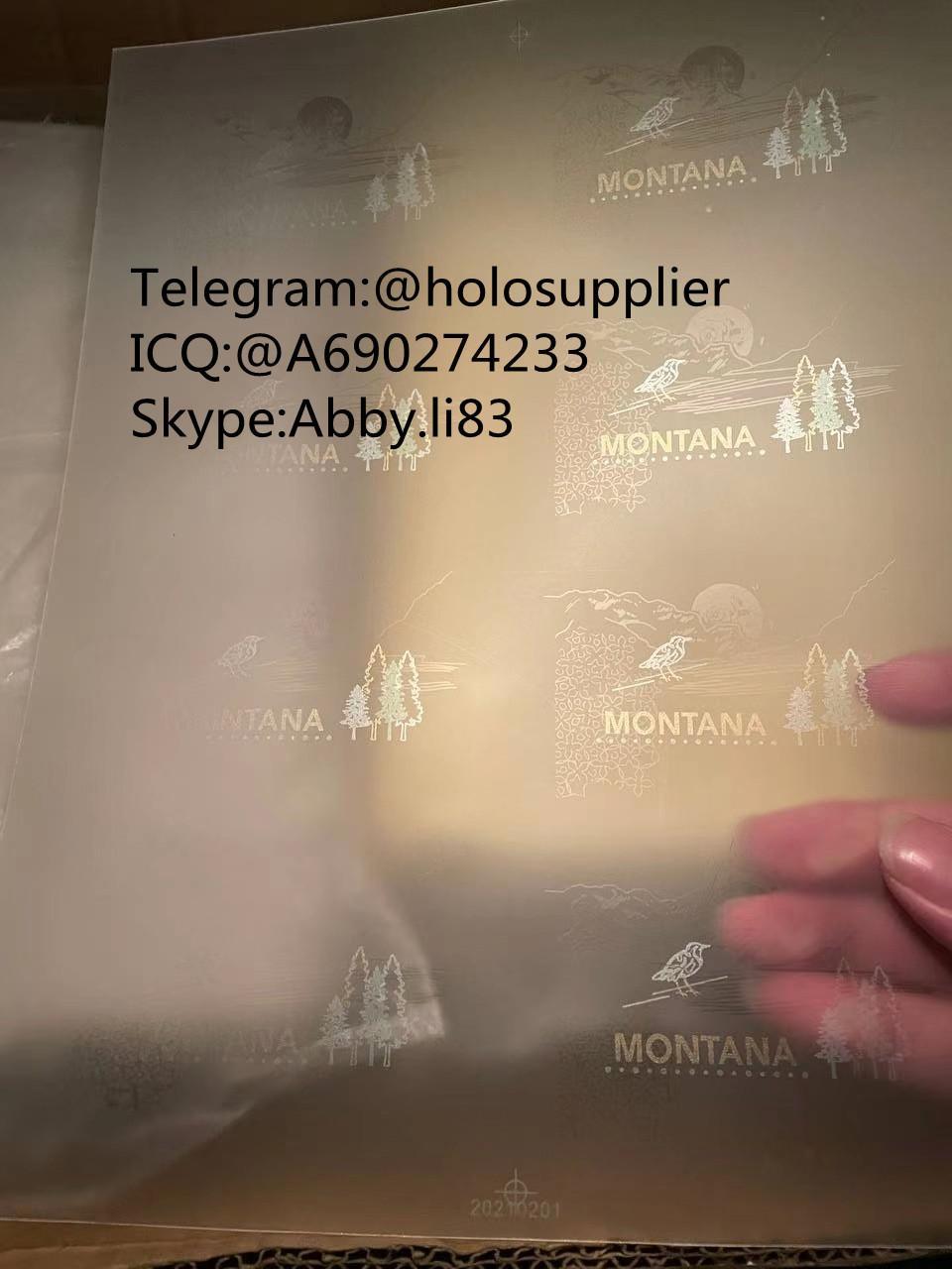 New Montana laminate sheet MT sheet hologram 1