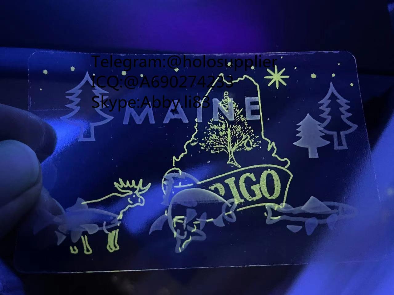 NEW Maine ID overlay ME state hologram