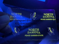 New North Dakota state ND ID hologram North Dakota state overlay