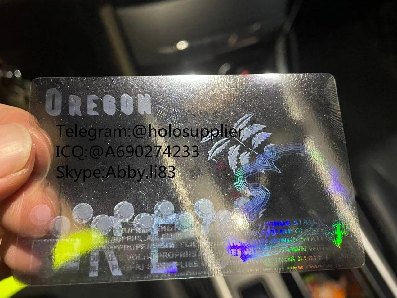 Oregon id overlay OR ID state hologram