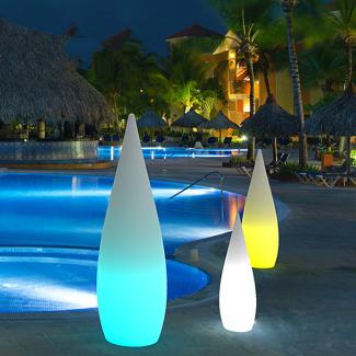 RGB Color Changing LED Teardrop standing Lighting 1
