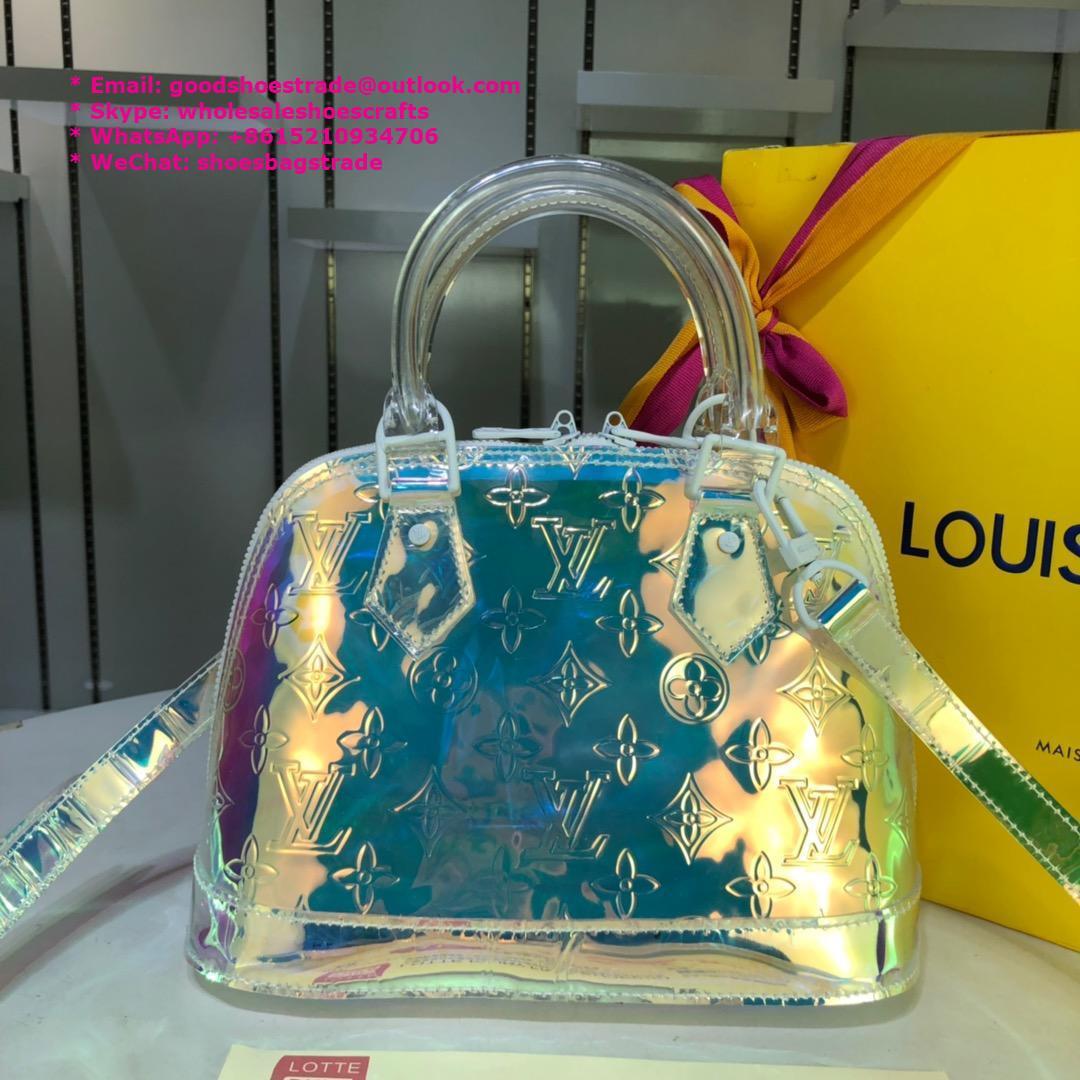 Keepall Bandouliere 50 Travel Boston Bag Transparent MONOGRAM PVC  3