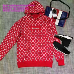 LV X Supreme LVS Box Logo Hoody Hoodies Sweatshirt Monogram Red vest coat tshirt