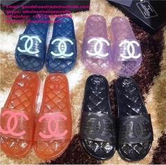 CC slingbacks CC mules CC Transparent 19p Glossy Cc Logo Pool Mules Slides CLEAR