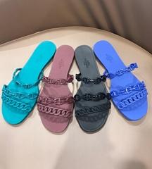 Hermes jelly slides shoes Women Jelly Sandals flat slipper Hermes slides hermes