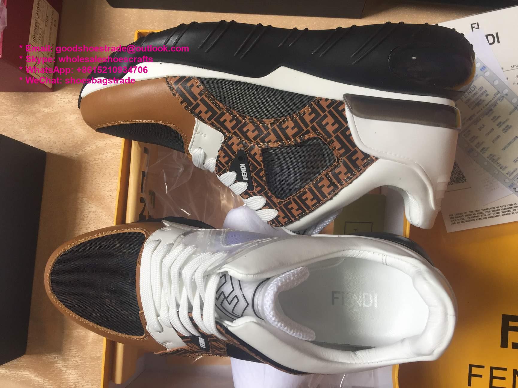 Fendi Mania Rocko leather sock Fendi sneaker Fendi boots Fendi Shoes Fendi Slipp