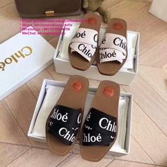chloe slides chloe sandal chloe slipper chloe shoes Woody flat mule in canvas