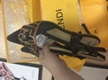 Fendi SLINGBACKS Fendi Brown mesh sabots Fendi pumps BALLERINAS Fendi Slippers F