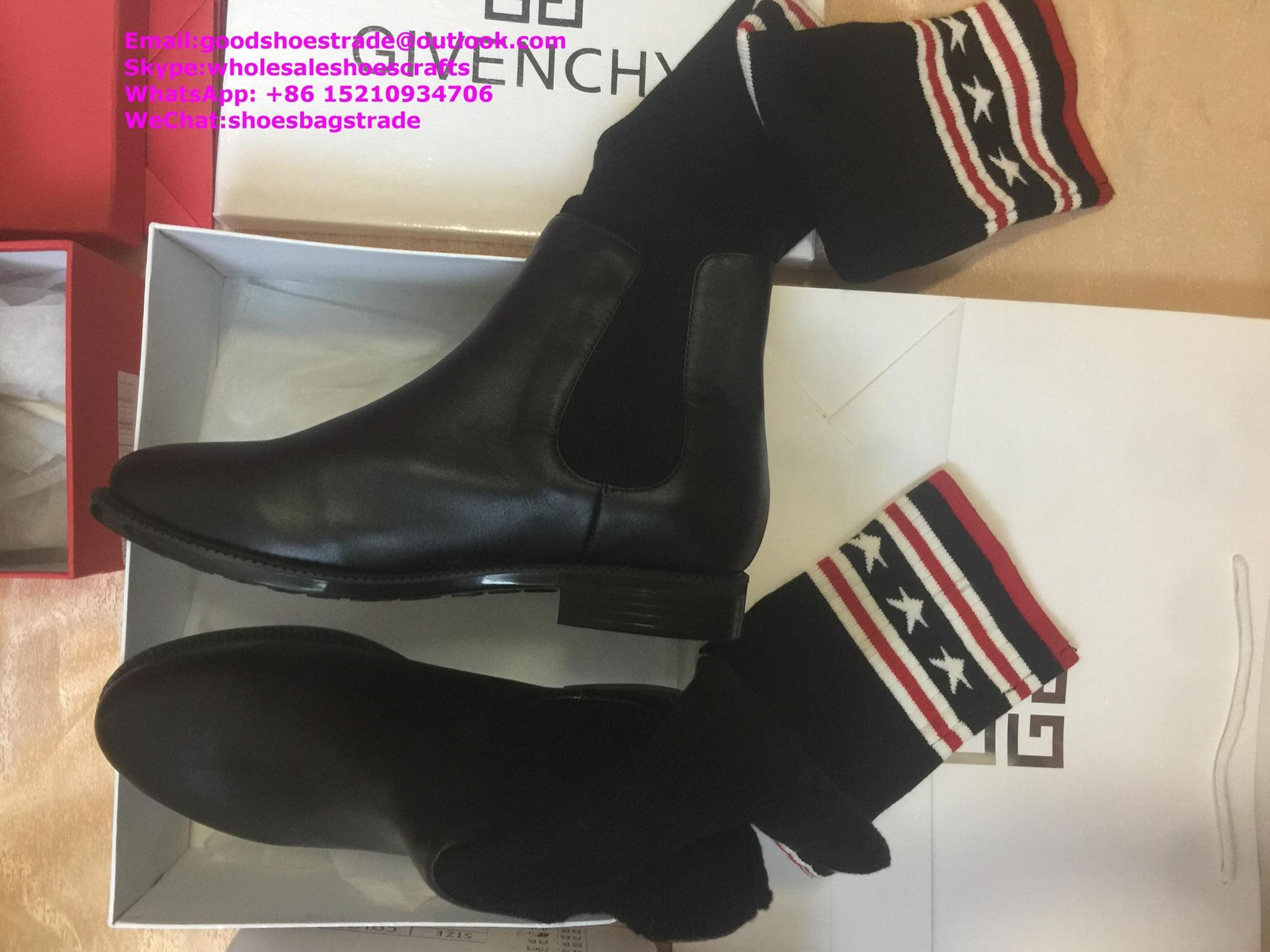 givenchy boots over the knee knitted rainboots in rubber shark lock boots 13