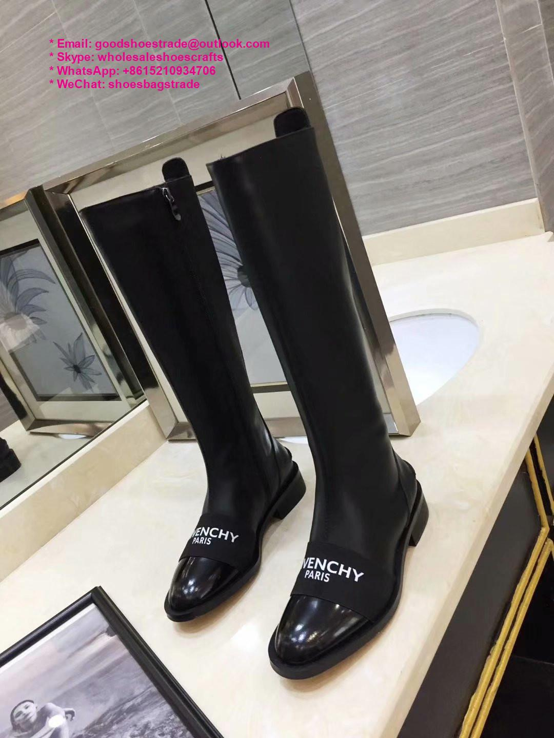 givenchy boots over the knee knitted rainboots in rubber shark lock boots 15