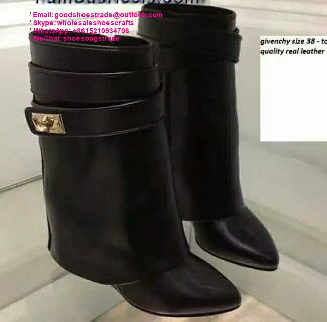 givenchy boots over the knee knitted rainboots in rubber shark lock boots 19