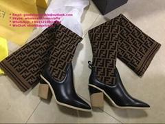 Fendi leather thigh-high boots Fendi