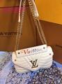 LOUIS VUITTON NEW WAVE CHAIN BAG MM LV Women crossboday handbag Monogram Multico