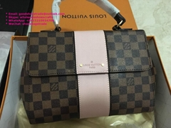 Louis Vuitton BOND STREET BB Damier Ebene LV Top Handles bags V TOTE MM LV bags