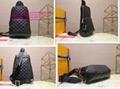LV AVENUE SLING BAG Mens LV Damier Graphite Pixel coated canvas waist bags chest
