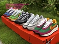 Authentic Sacai x Nike LDV Waffle Daybreak Green Orange Sports shoes sacai nike