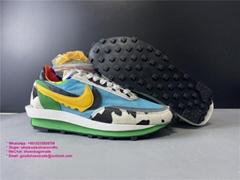 Authentic Sacai x Nike LDV Waffle Daybreak Green Orange Sports shoes sacai nike