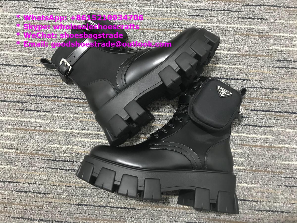 Prada boots thigh boot high Leather boots prada shoes prada high top shoe Martin