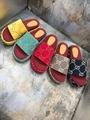 beige brick red GG canvas Women's Original GG slide sandal gu cci platform sanda