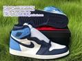 UNC blue white Air Jordan 1 High OG Obsidian University Blue Volt Gold Fearless