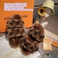 LV fur slides LV mule POOL PILLOW COMFORT MULE LOCK IT FLAT MULE paseo sandals