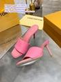 LV heels sandals LV REVIVAL MULE LOCK IT FLAT MULE Louis Vuitton REVIVAL FLAT MU