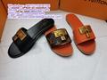 LV Monogram slides LOCK IT FLAT MULE LV heels sandals LV sandals LV slippers GG