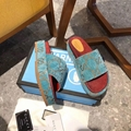 beige brick red GG canvas Women's Original GG slide sandal guc ci platform sanda