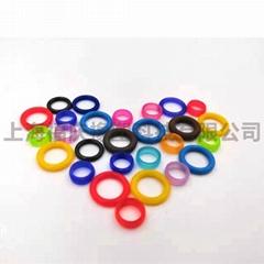 廠家直銷彩色O型圈 硅膠閥門化工管道密封圈 可按需定製彩色O型圈