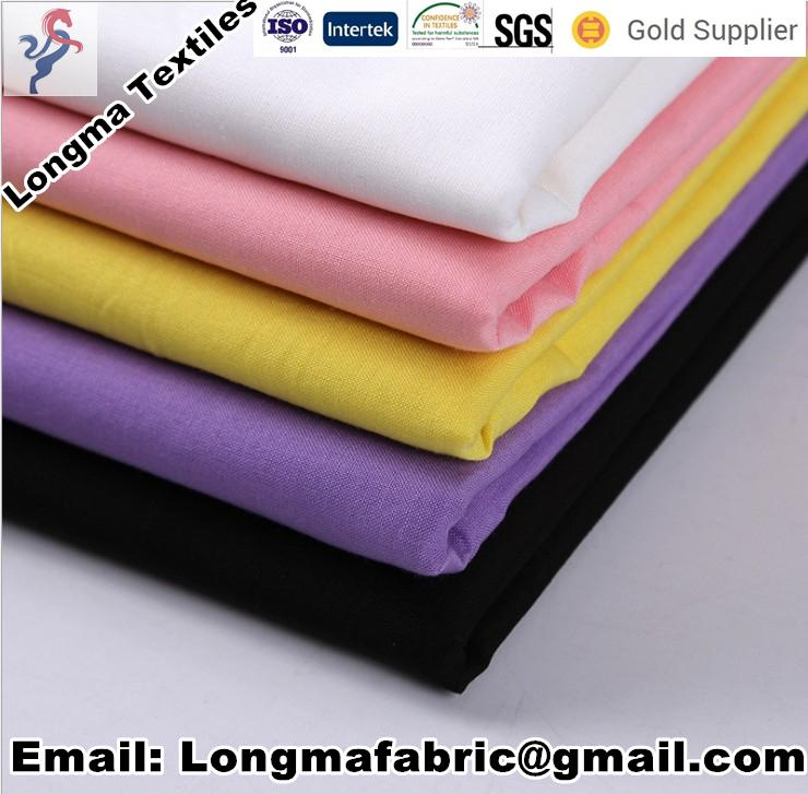 TC polyester cotton combed shirt fabric T/C65/35 45X45 133X72 63 1