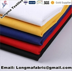 China manufacturerspolyester cotton blend TC dyed fabric shirting fabric/pocket