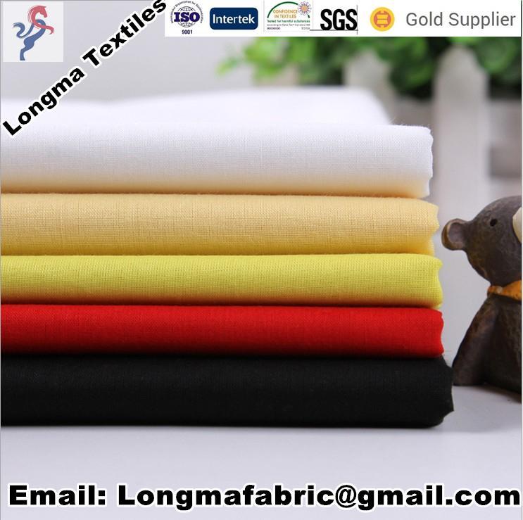 China manufacturerspolyester cotton blend TC dyed fabric shirting fabric/pocket  4