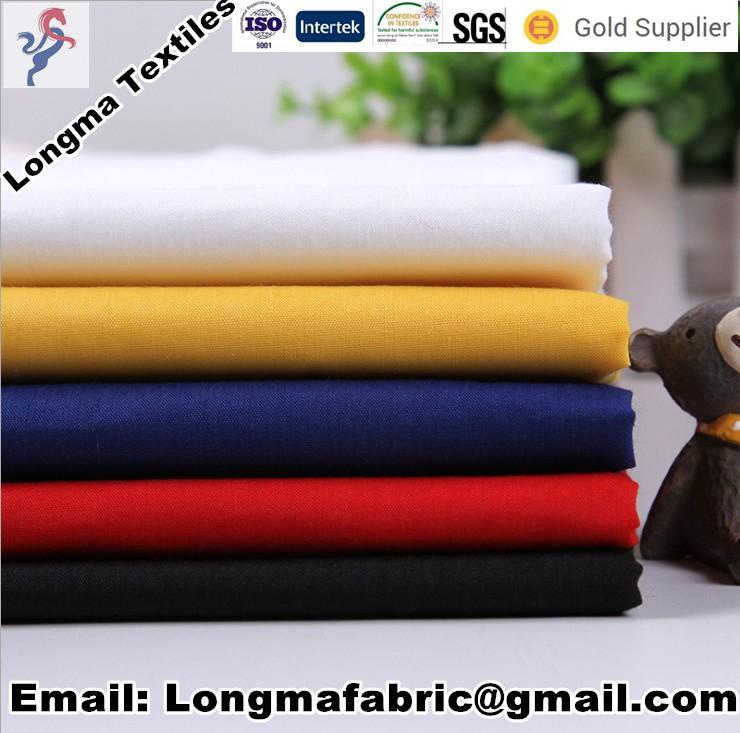 China manufacturerspolyester cotton blend TC dyed fabric shirting fabric/pocket  5