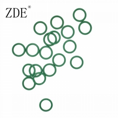 Small Green FKM Rubber O Ring Seal