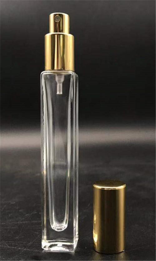 China hot sale perfume square tube cling neck glass bottle 10ML wholesale 1