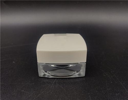 custom design cosmetic Square type jar screw neck glass bottle 15G wholesale 1