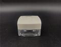 custom design cosmetic Square type jar