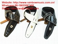 Vintage Style Genuine Leaher Padded  Elecric Acoustic Guitar Bass Straps 4