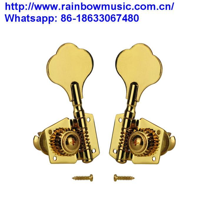 6PCS Right Inline Semi-Closed Split Shaft Vintage Electric Guitar Tuning Keys Pe 1