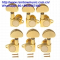 3Pcs Right+3pcs Left Guitar Tuners Guitar Tuning Key Pegs Square Button Machine  2