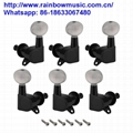 3Pcs Right+3pcs Left Guitar Tuners Guitar Tuning Key Pegs Square Button Machine  3