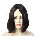 Jewish Wigs Kosher Wigs Blunt Short Bob Wig 100% Double Drawn European Human Hai 1